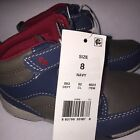 NEW Toddler Boys Surprize by Stride Rite Dallas High Top Sneakers Navy Brown 8