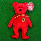 NEW Ty Beanie Baby Graf von Rot The Bear Retired Plush Toy MWMT - FREE Shipping