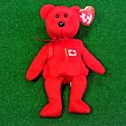NEW Ty Beanie Baby Pierre The Bear Retired Canadian Teddy - MWMT - FREE Shipping