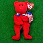 NEW Ty Beanie Baby Thomas The Patriotic Teddy Bear Toy - MWMT - FREE Shipping