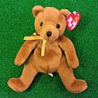 NEW Ty Beanie Baby Sherwood The Bear Retired Plush Toy - MWMT - FREE Shipping