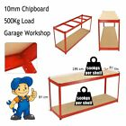 1.9m Heavy Duty Steel Work Bench Station Shelves for Garage Warehouse Workshop