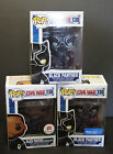 3 NIB - Funko Pop! Marvel Civil War - BLACK PANTHER - 1 COMMON 2 EXCLUSIVES
