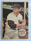 1967 Topps Mickey Mantle Poster Pin Ups #6 New York Yankees no holes
