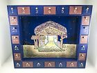 Kurt S Adler Magnetic Nativity Advent Calendar Christmas Tabletop Wall Mount