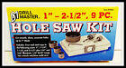 """9 Piece hole saw kit brand new 4 - 1""""-2-1/2"""" cutting steel cups"""