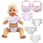 2pcs/set 18'' Doll Bibs Diapers Zapf Doll Clothes Amercian Girl Doll Underwear