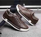 Mens Breathable oxford Round Toe Lace Up low top Casual driving Shoes sneakers