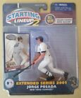 2001 EXTENDED SERIES STARTING LINEUP 2 JORGE POSADA FIGURE WITH CARD YANKEES