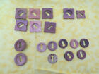 Vintage Antique Wood Key Hole Covers For Furniture Lot of 18