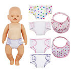 Stylish 2PCS 18'' Doll Diaper Zapf Baby Bibs Clothes Amercian Girl MiniUnderwear