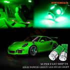 8x Interior Package Car LED Kit Green Light for Buick Lucerne 2006-2011 Bulb New