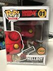 FUNKO POP HELLBOY w JACKET & HORNS LIMITED CHASE COMICS #01 w FREE PROTECTOR