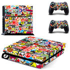 Stickerbomb Vinyl Cover Decal Skin Stickers for Sony PS4 Console