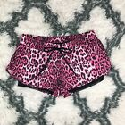 Juicy Couture Sport Women's Athletic Shorts Size XS Cheetah Pink Black