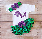 2018 Infant Kids Baby Girls Romper Bodysuit+Mermaid Skirt Dress Clothes Outfit