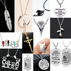 Silver Women Men Necklace Chain Jewelry Pendants Gift For Her Best Friends Charm