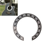 104mm Hard PVC Circle Sound Hole Rosette Inlay Replacement For 40 41 inch Guitar