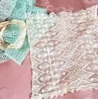 Antique French Tambour Net Lace Bobble Doll Dress Panel VTG Sewing Trim Lot