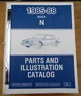 1985 to 1988 Factory Buick N Patrs and Illustration Catalog