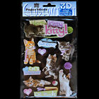PAPER HOUSE Here Kitty Cats Kittens Meow Stickers PACK SCRAPBOOKING FREE US SHIP