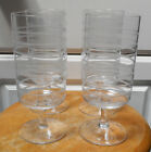 Set of 4 Mid Century Modern Etched Glassware