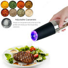 Automatic Electric Induction Pepper Salt Grinder Grinding Bottle Stainless Steel