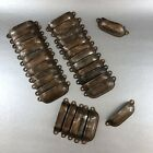 4 Of 24 Vintage Copper Library Cabinet Drawer Shell Handles Pulls Hardware Knobs