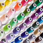 Machine Embroidery Thread Lot Polyester Spools Varies Colors Set Twist Z Bobbins