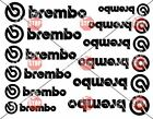 12 Brembo Decal Sticker Vinyl Caliper Brake Black Heat Resistant 6 Sizes Pairs