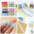 New 1pc Roll Lace Paper Adhesive Washi Tape Sticker Masking Craft Decorative DIY