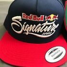 Red Bull Signature Series Hat Snapback Red Navy Blue
