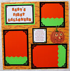 BABYS FIRST HALLOWEEN ONE 12X12 Premade Scrapbook Page