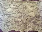 RARE 3D ANTIQUE FRENCH TAMBOUR LACE CURTAIN PANEL EXQUISITE HW