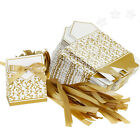 50pcs DIY Wedding Party Birthday Gift Ribbon Favours Candy Paper Boxes
