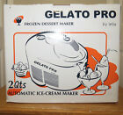 Lello Gelato Pro Frozen Dessert Maker 2 Quart Ice Cream Maker NIB