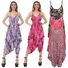 Ladies Baggy Sleeveless All in One Cami Romper Playsuit Harem Style Jumpsuit