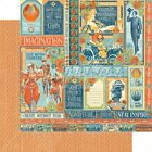 5p Graphic 45 Worlds Fair Collection Scrapbook Paper Wonder Works 4501169