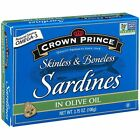 Sardines Olive Oil Boneless Skinless Good Source Of Protein 12 Pack 3.75 Oz.