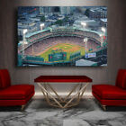 Fenway Park and Downtown Drone Shot Canvas Print - Large 36 x 24 Boston Red Sox