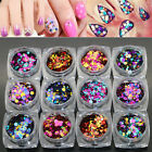 Nail rt Glitter Shiny Mix Round Sequins Tips Sheets crylic UV Gel Manicure  ASt