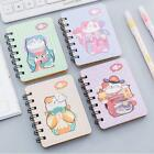 """""""Fortune Cat"""" 1pc Cute Small Diary Pocket Notebook Memo Pad Mini Journal Spiral"""