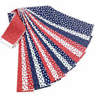 Patriotic Jelly Roll 18 Fabric Strips Pre Cut 25 x 43 Inch Red White Blue Stars