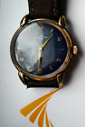 ULYSSES NARDIN Art Deco Blue Dial with ANCHOR, gold hands and Fancy LUGS