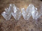 10 Clear Replacement Punch Bowl Set Cups Indiana Glass Pebble Leaf Twiggy Hooks
