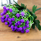 1Pcs Small Bud Roses Bract Silk Simulation Flowers Wedding Party Decor Purple Po
