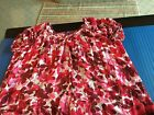 beverly drive 2x blouse jaguars bottom hem easy care red pink red white