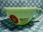 Jadeite Green Glass Sunbeam Bread Girl Batter Bowl in Excellent Condition