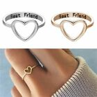 Womens Love Heart Best Friend Ring Promise Jewelry Friendship Rings Bands