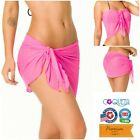 Coqueta Mesh Pink Pareo Sarong Wrap Fashion Cover up Swimwear Beach Swmsuit New